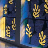 windows from Matisse Chapel in Vance, France. Photo Credit: Alistair Duncan (alistairduncan.co.uk)