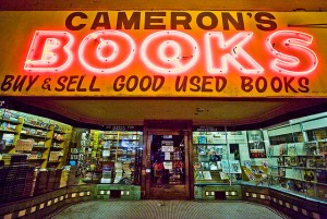 Cameron's Books in downtown Portland (SW 3rd and Stark.) Photograph by Thomas Hawk http://thomashawk.com/