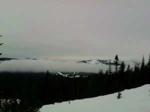 Clouds amassing below the Alpine Trail. Mt. Hood, OR