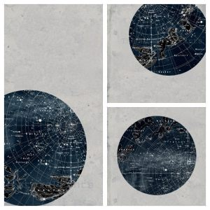 Antique sky map from TheCuratorsPrints