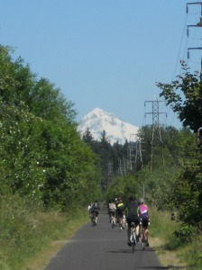 Mount Hood from the Springwater Corridor. Portland, OR