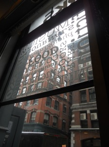 a quiet morning at Housing Works bookstore. New York, NY