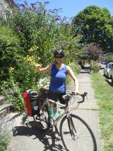 Rachel's first bike camping trip!