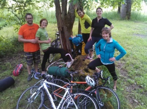 Memorial Day bike camping trip to Champoeg State Park, OR