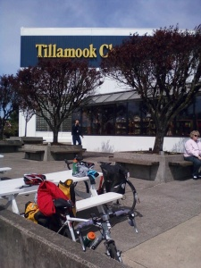 ice cream stop at mile 60 of 115. Tillamook, OR