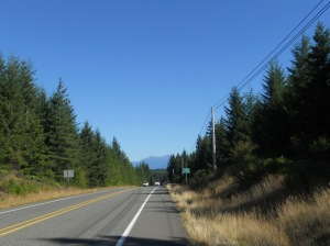 our first glimpse of the Olympic Mountains on Highway 101 just north of Shelton, WA