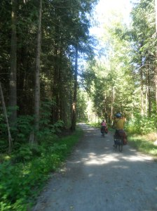 the Larry Scott Trail was a lovely respite from highway riding. Look at those trees!