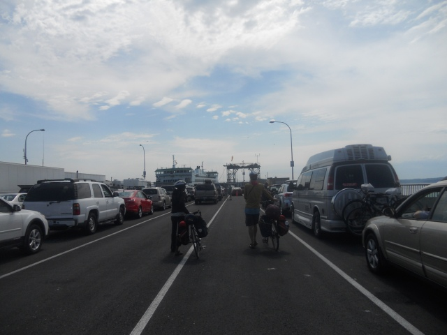 about to board the Washington State Ferry in Port Townsend