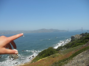 land ho! sighting the Golden Gate Bridge from the Land's End Trail